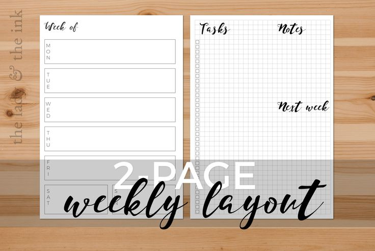 It took me a long time to head back, but here I am. And I brought a new printable with me: a 2-page weekly! In one page you can have all your appointments and time-sensitive tasks and on the other …