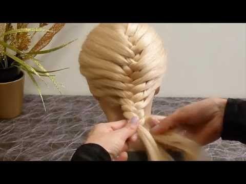 Косa Рыбий хвост.Причёски для средних/длинных волос.Плетение кос/волос. Причёска в школу для девочек - YouTube