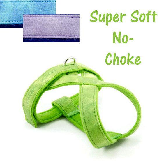 Small Dog Harness  Comfy No-Choke Fleece-lined Easy by PupPanache