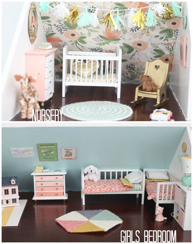 DIY DOLLHOUSE: THE GIRLS BEDROOM AND NURSERY