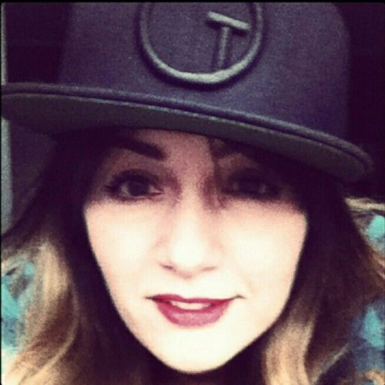 Francesca wearing the new Galleria-T Logo Snapback, releasing over at www.galleria-t.com in May.