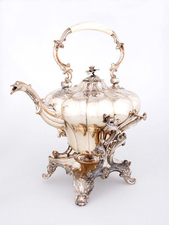 Sheffield Silver tea pot tea urn tea kettle Repinned by www.silver-and-grey.com