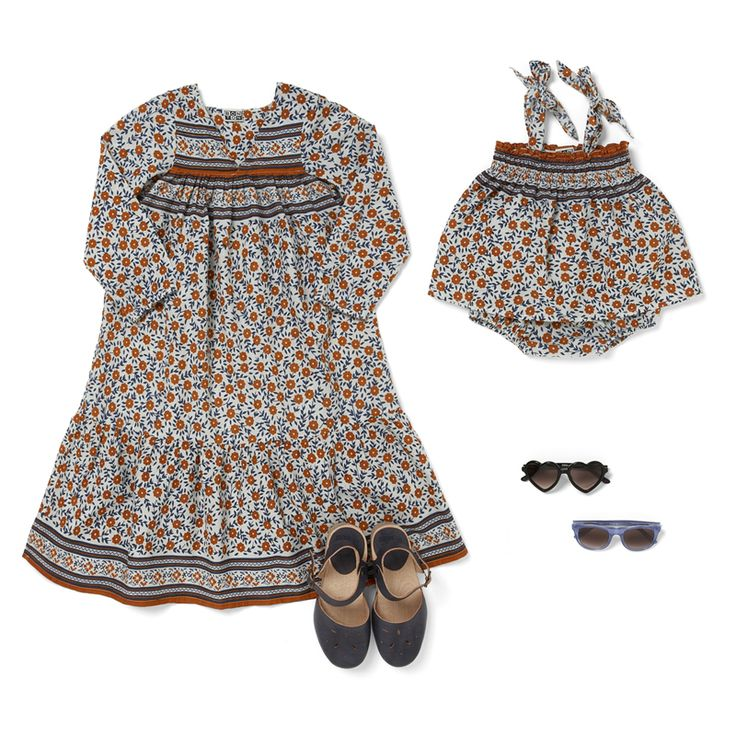 Fl Dress And Bloomer Blue Clogs Bonton