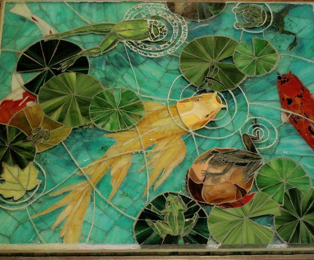 FANTASTIC mosaic table top by mosaic artist Candace Clough!!!