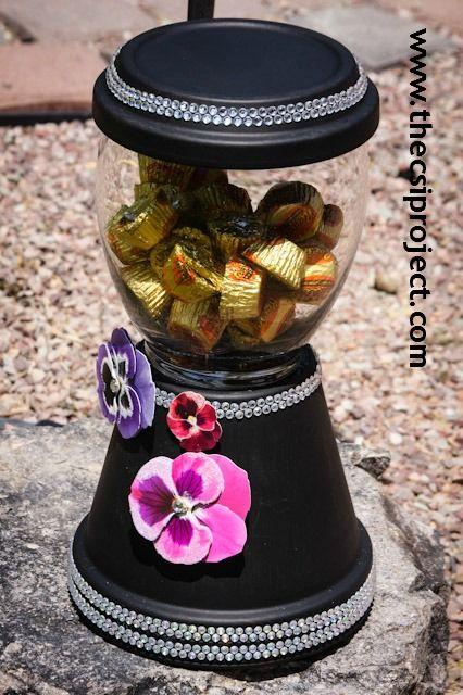 DIY Elegant Clay Pot Candy Jar