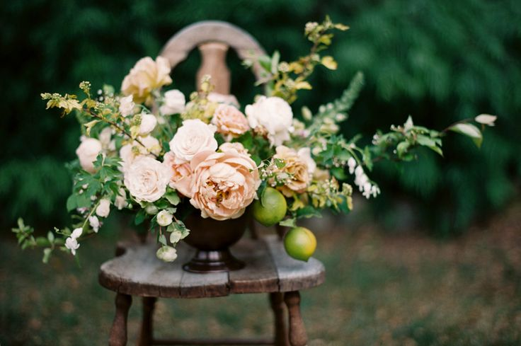 Centrepiece - Dreamy Garden Wedding Inspiration with a Hint of Provence