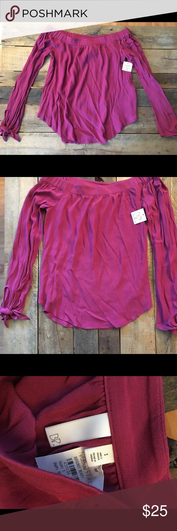 [BP.] Off the Shoulder Long Sleeve Top NWT. Purchased at Nordstrom rack just never ended up wearing it. Purple, size small. bp Tops Blouses
