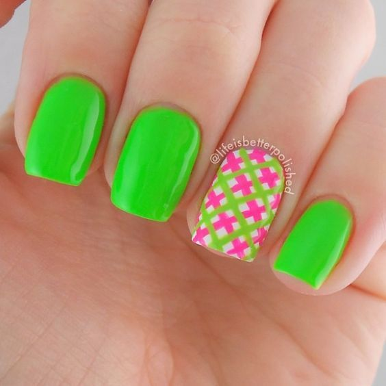 80+ Cute and Easy Nail Art Designs to inspire you for your next set of - The 25+ Best Neon Green Nails Ideas On Pinterest Lime Green