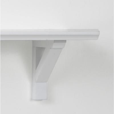 Home Decorators Collection 16 In X 5 In X In White Cottage Bracket Shelf Cottages
