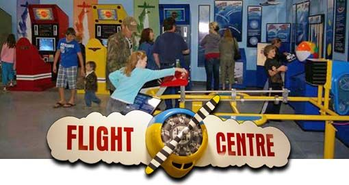Children's Centre - Kids have fun while learning in our newly renovated Children's Flight Centre!   So you want to be a pilot?    Learn how with flight simulators, arcade-style gaming consoles and interactive displays.  Experience a real airplane cockpit for flights of imagination -- what could be better?  Also, the Children's Flight Centre is the location for children's birthday parties.  Available on Saturdays and Sundays in non-peak season, it's a fun alternative to your average party!
