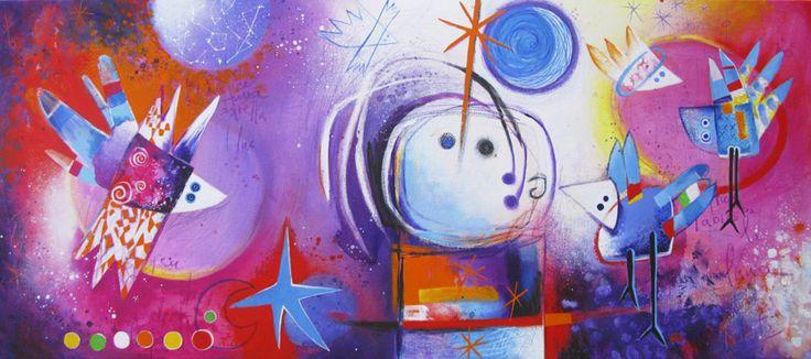"""Angeles Nieto """"Latidos de estrellas"""" (Het hart van de sterren)"""