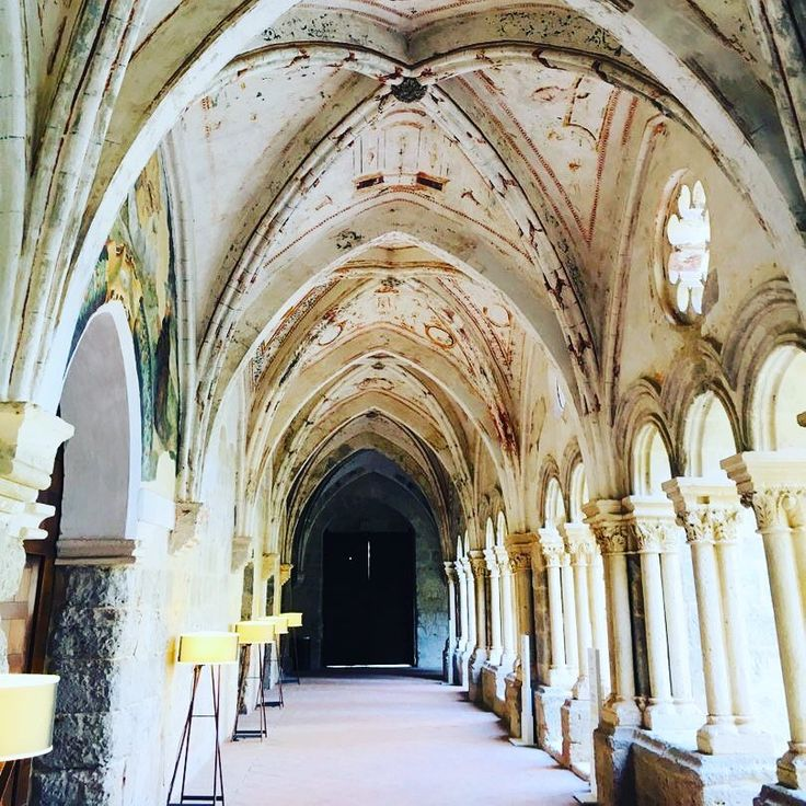 Castilla Termal Monastario de Valbuena Five Star hotel is in one of the best preserved Cistercian monasteries of the 12th century. The hotel is a beautiful combination of the old and new in the middle of wine region Ribera del Duero #Spain, #MedievalSpain, #RiberadelDuero, #awelltravelledbeauty