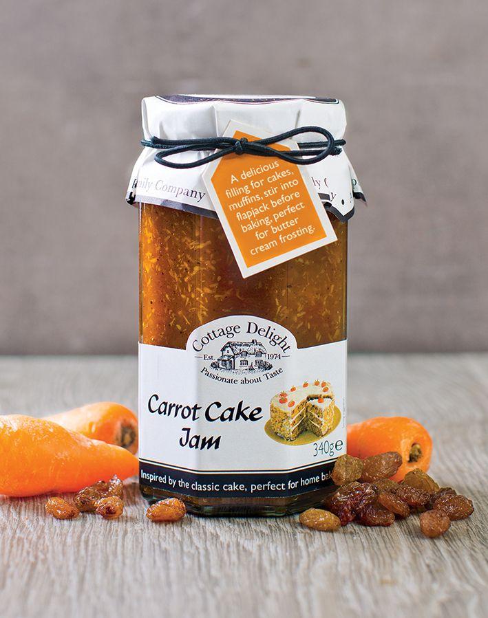 Cottage Delight - Carrot Cake Jam  Geïnspireerd door de klassieke cake, is onze Carrot Cake Jam gemaakt met sappige wortelen, rozijnen, kokos, ananas en peer. Als je houdt van Carrot Cake, zoals wij doen, zal je verliefd worden op onze Carrot Cake Jam. Smaakt net zoals de taart, zonder bloem en eieren.  http://www.bommelsconserven.nl/delicatessen/zoetwaren_bestellen/ambachtelijke_confituren_online_kopen_bij_bommels_conserven/