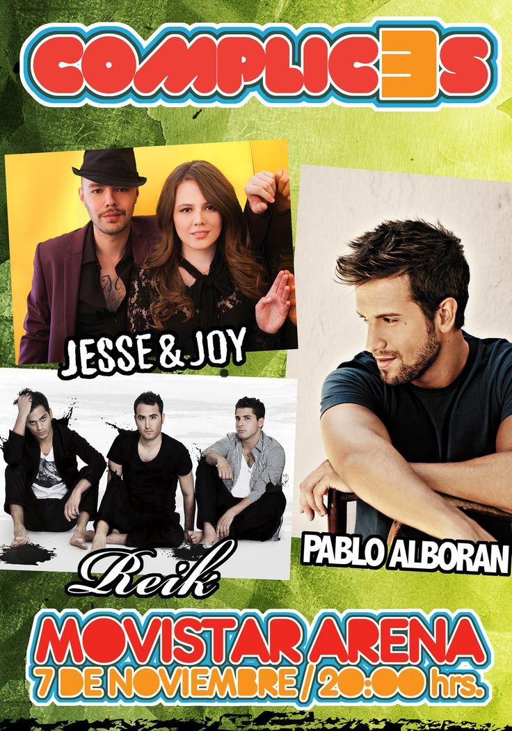 Complic3s (Jesse & Joy, Pablo Alborán, Reik) - 07 de noviembre - Movistar Arena