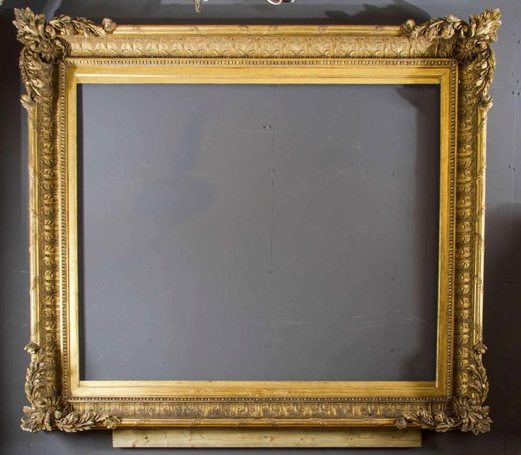 19th C. Grand Size Carved Wood and Gesso Frame