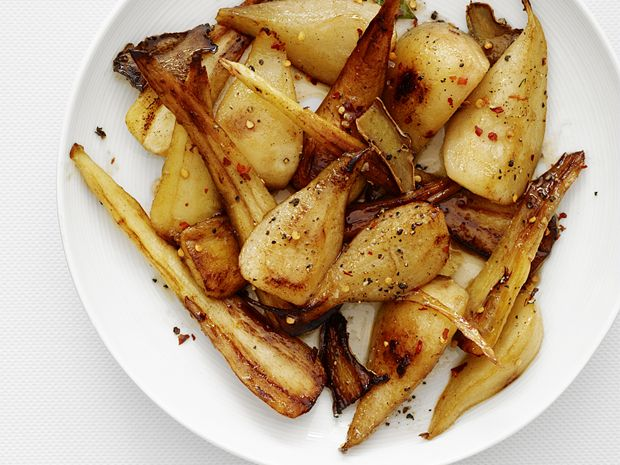 Gingered Pears and Parsnips recipe from Food Network Kitchen via Food Network