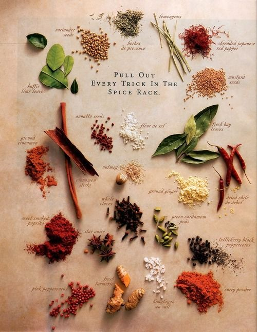 """westernherbalism:  """"Pull out every trick in the spice rack"""""""