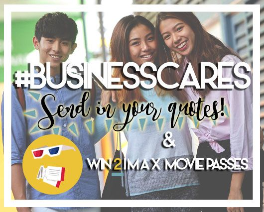 The GCE 'O' level results come out in 3 days!✨  Spread the Business love and show your support to the Sec 4 graduates by submitting a motivational quote via the link above!👆  If your submission is chosen, you could be walking away with a pair of complimentary IMAX movie passes...😎  Your weekend plans just got a lot better, submit your quote now! At TP School of Business, we're family. All the best Sec 4 graduates, we can't wait to welcome you with open arms 🙆 💛  #BusinessCares