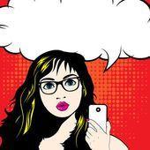 Mulher conversando e falando ao telefone — Vetor de Stock