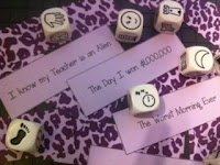 Create story starters to go with your Rory's story cubes