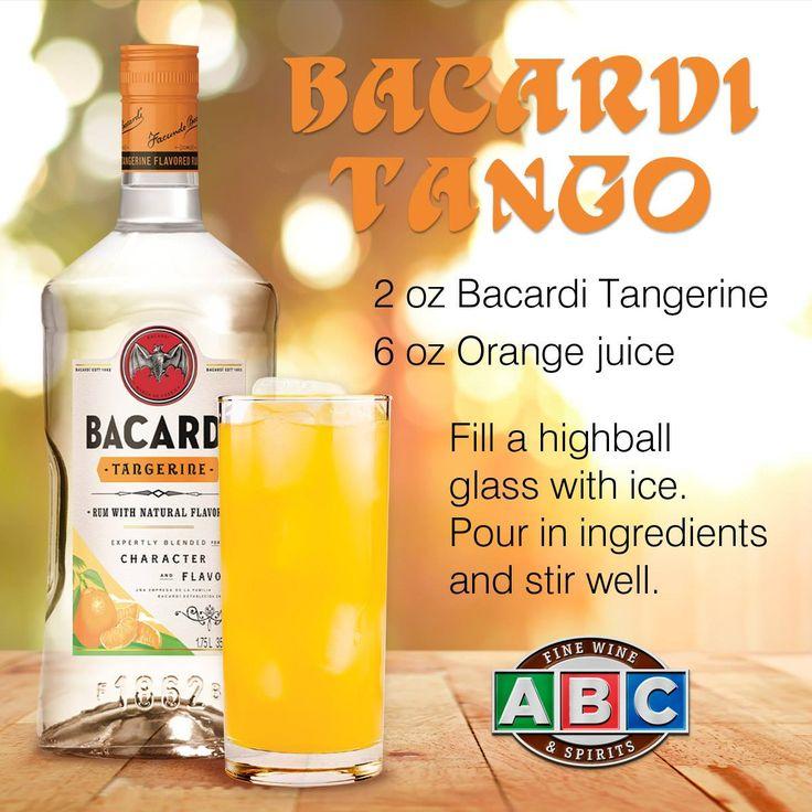 Bacardi Tango featuring Bacardi Tangerine rum