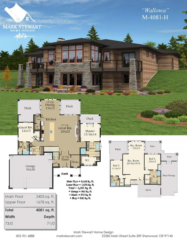 10 best Two Story Home Plans images on Pinterest House floor plans