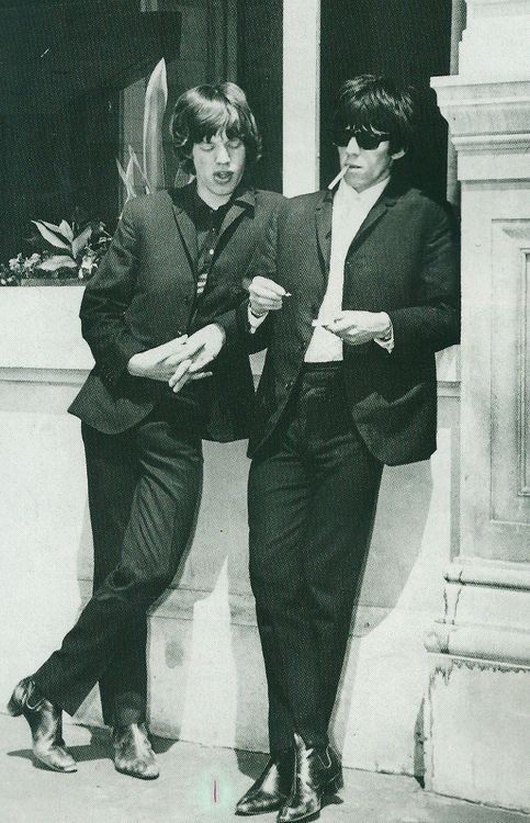 Mick Jagger and Keith Richards........KR will always be cool, was then and still is!