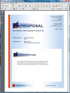 32 best Sample Service Sales Proposals images on Pinterest ...