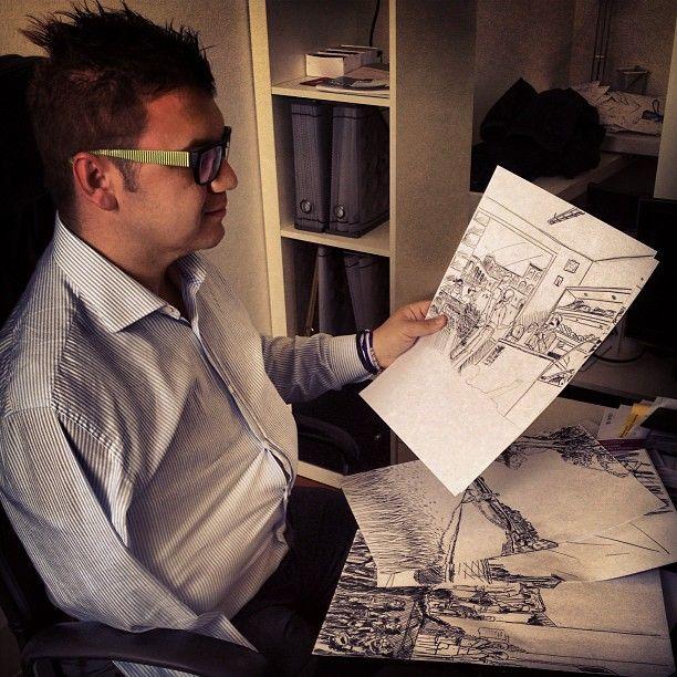 Progetto Instagram iPhone: il CEO Lapo Secciani al lavoro. Art Director: Lapo Secciani Photographer: Lapo Secciani.
