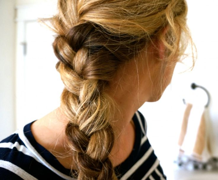 messy french braid - pearls on a string