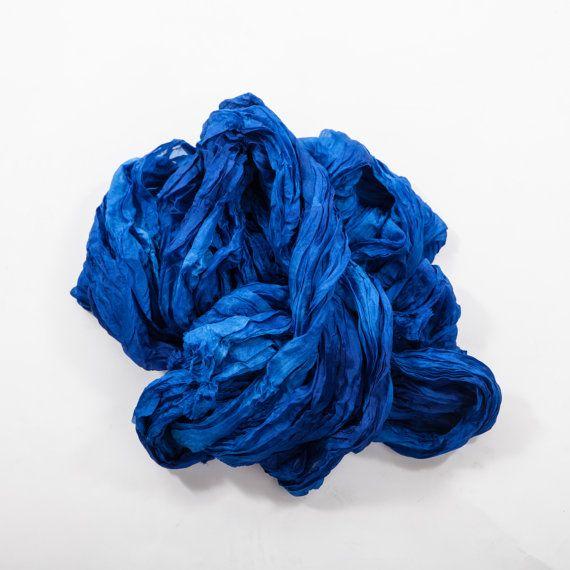 Boho scarf for women / girlfriend gift scarf / royal blue