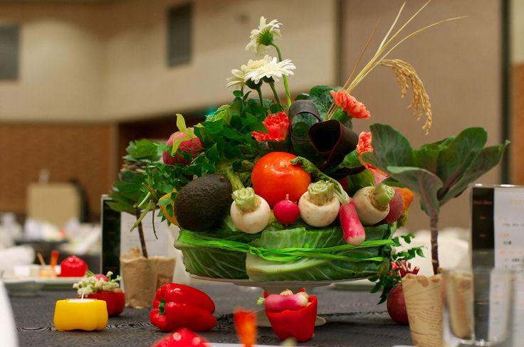 【福岡県久留米市 ホテルニュープラザKURUME・ウェディング】ベジタブル!お野菜の卓上装花