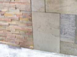Stone for landscape walls and floors