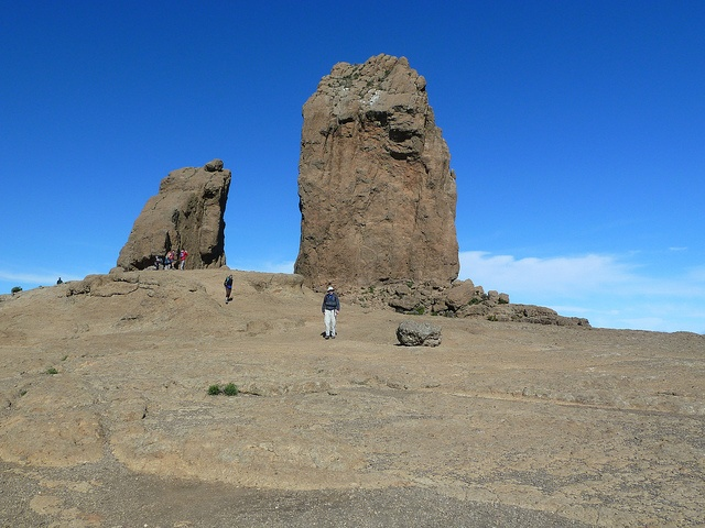 "Roque Nublo (""Rock in the Clouds"") - Grand Canary Islands, Spain;  a monolith that is 263 feet tall and is one of the most famous landmarks on the island of Gran Canaria;  photo by Keith A H, via Flickr"
