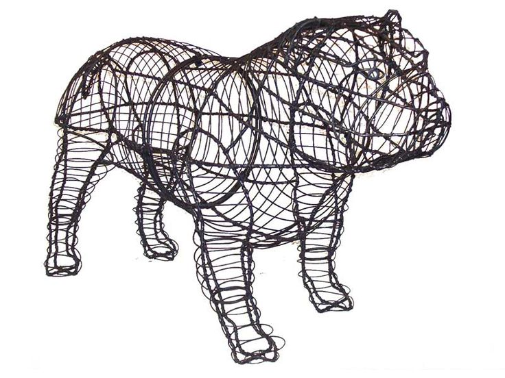 Bulldog Topiary Frame Need This For The Backyard Make
