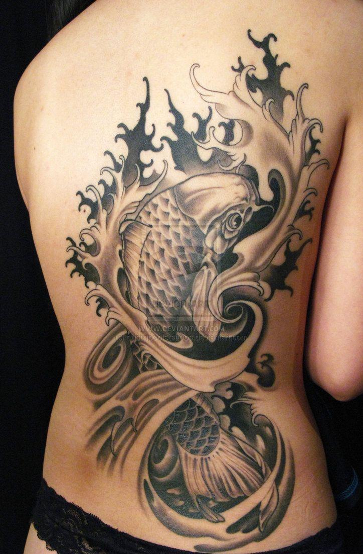 Koi fish tattoo.