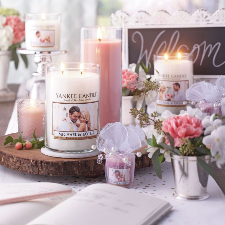 personalize your wedding day click the photo to create your personalized photo candle today