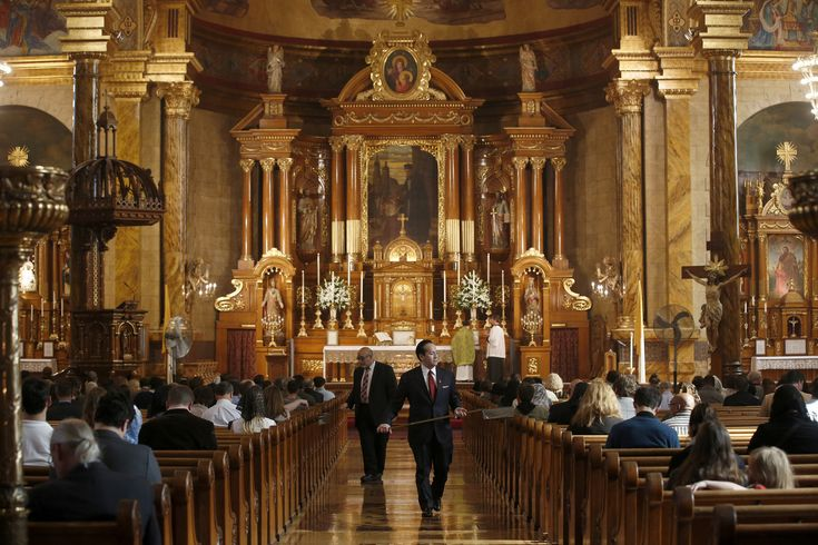 """St. John Cantius Catholic Church has been voted """"The Most Beautiful Church in America,"""" edging out Cathedral of the Madeleine in Salt Lake City."""