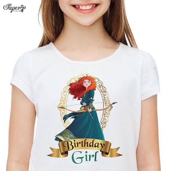 Merida Tshirt Brave Birthday Shirt Merida Birthday Shirt Brave Shirt Merida Party Merida Birthday