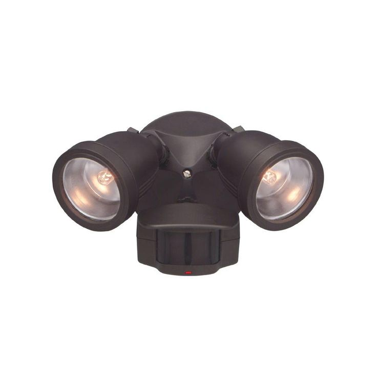 Designers Fountain Area & Security 2-Light Distressed Bronze Outdoor Halogen Security Light with Motion Detectors-PH218S-87 - The Home Depot