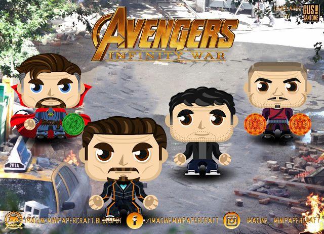 Imagine Mini Papercraft: Avengers Infinity War | Avengers Printables