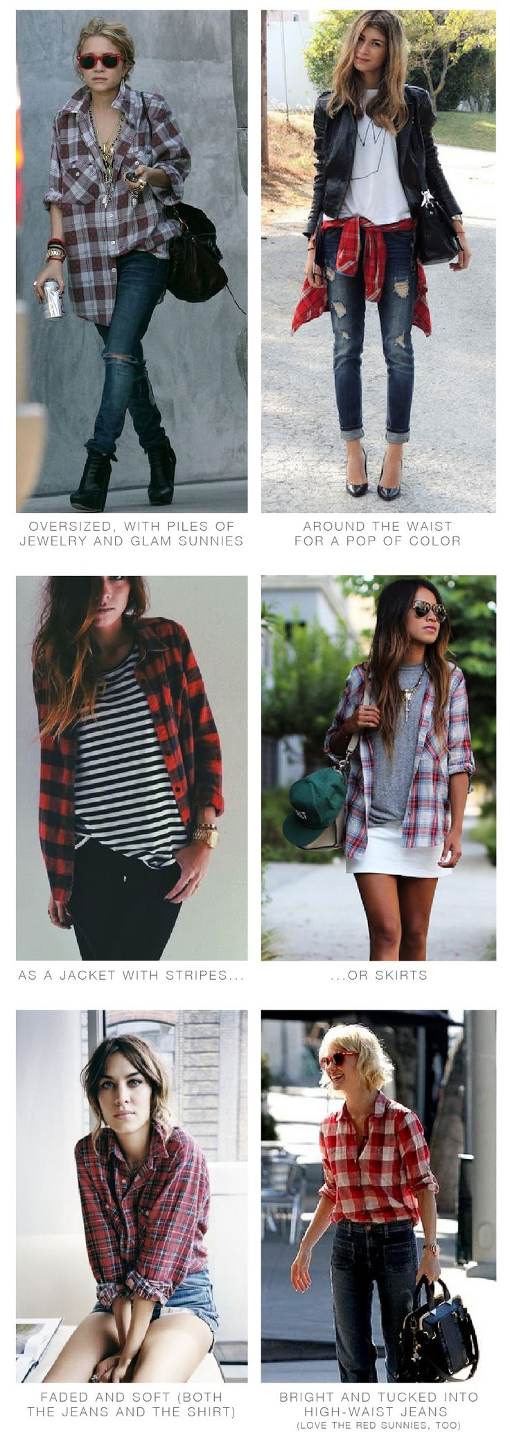 plaid shirt inspiration and suggestions from The Mom Edit