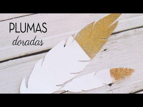 Cómo hacer detalles dorados ⎟Plumas doradas ⎟Adornos fáciles scrapbooking DIY ⎟ Scrap Tip - YouTube