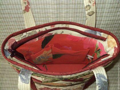 """Женские сумки ручной работы. Лоскутная сумка """" В беседке"""". Снежана Лоскутное шитьё. Ярмарка Мастеров. Сумка женская"""