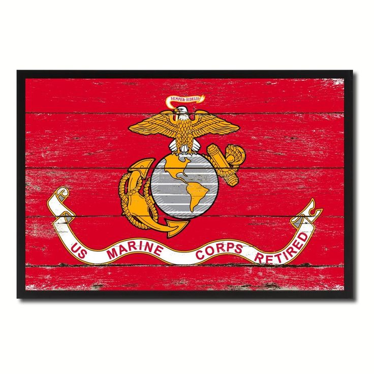 US Marine Retired Flag Shabby Chic Gift Ideas Office Home