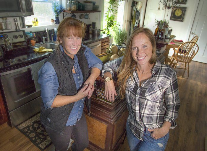 Busting myths on home improvement: Karen Laine and Mina Starsiak Hawk, (mother and daughter) own Two Chicks and a Hammer rehab business, featured on HGTV.
