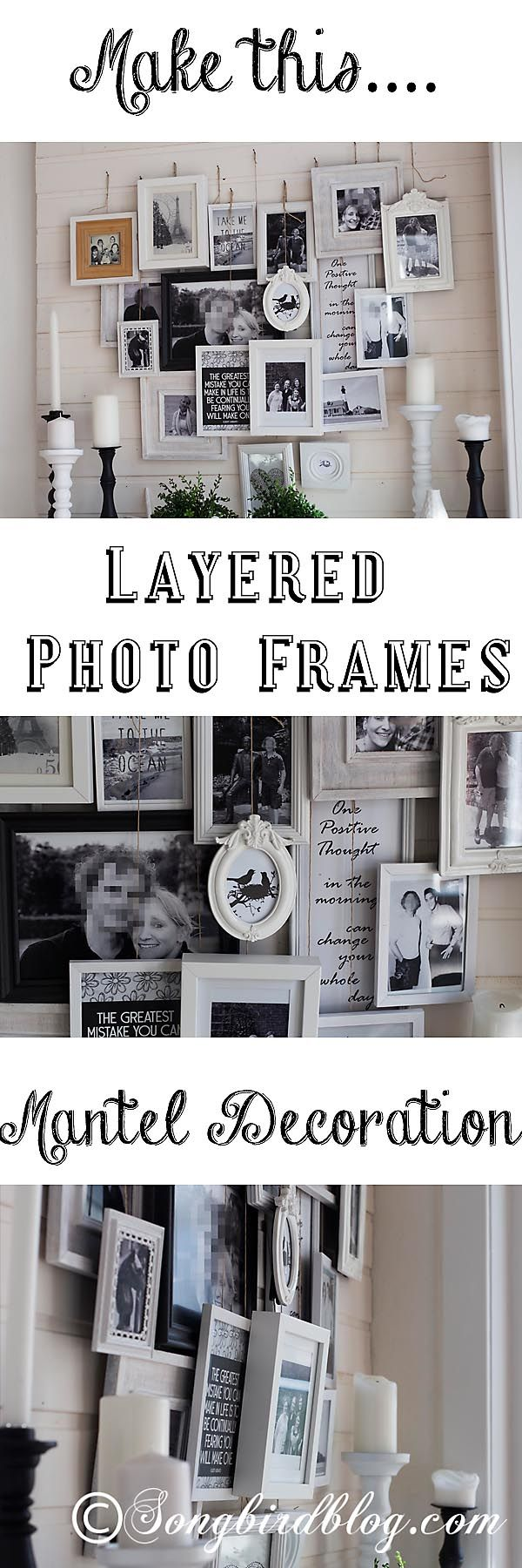 Lovely A Different Kind Of Valentines Mantel: A Heart Shaped Layered Photo Frames  Decoration. Awesome Ideas