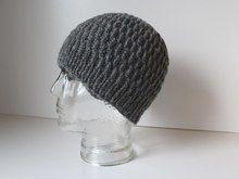 Strickanleitung Mütze, Beanie für Männer, Rippenmuster, Kopfumfang ca. 54 - 58 cm,