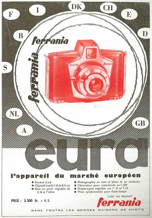French ad for Ferrania EURA camera
