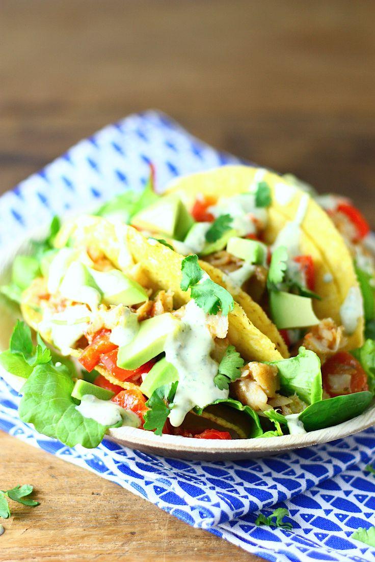 Vis taco's met avocado // Francesca Kookt